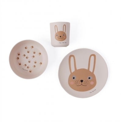 Oyoy OYOY - Tableware Set Rabbit Bamboo