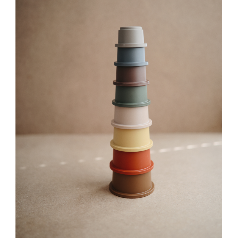 Mushie Mushie - Stacking cups retro