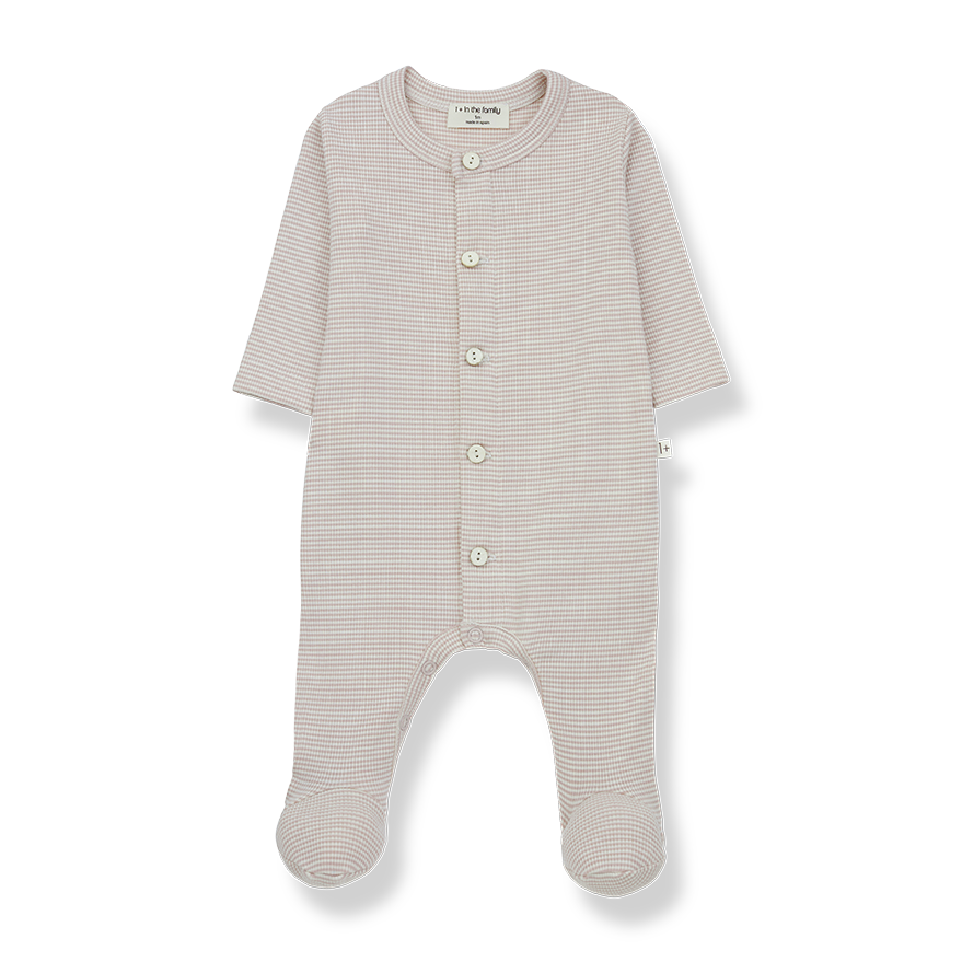 1+ in the family 1+ in the family - Delphine jumpsuit with feet nude