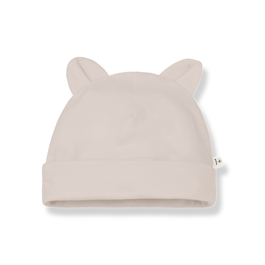 1+ in the family 1+ in the family - Leo beanie with ears nude
