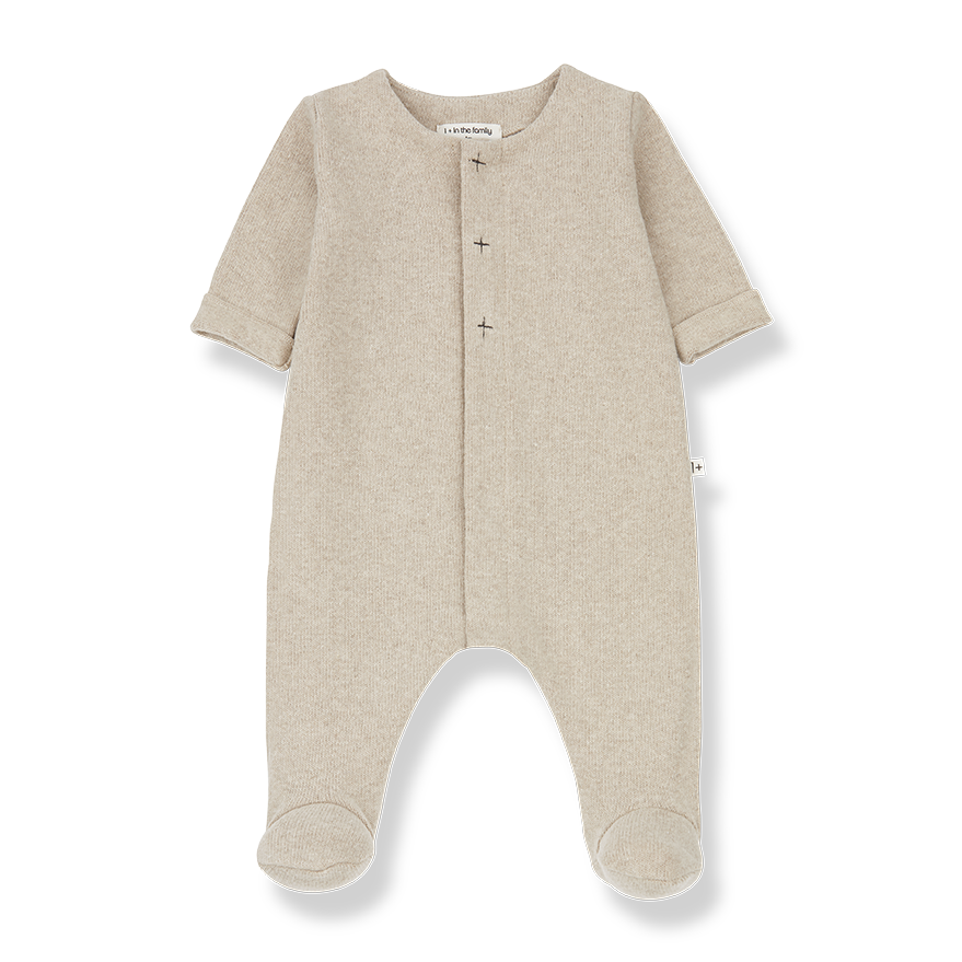 1+ in the family 1+ in the family - Odette jumpsuit with feet cream