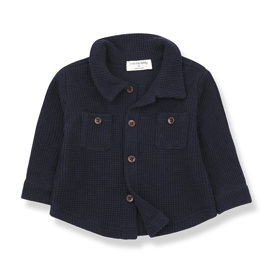 1+ in the family 1+ in the family - Civetta shirt blue notte