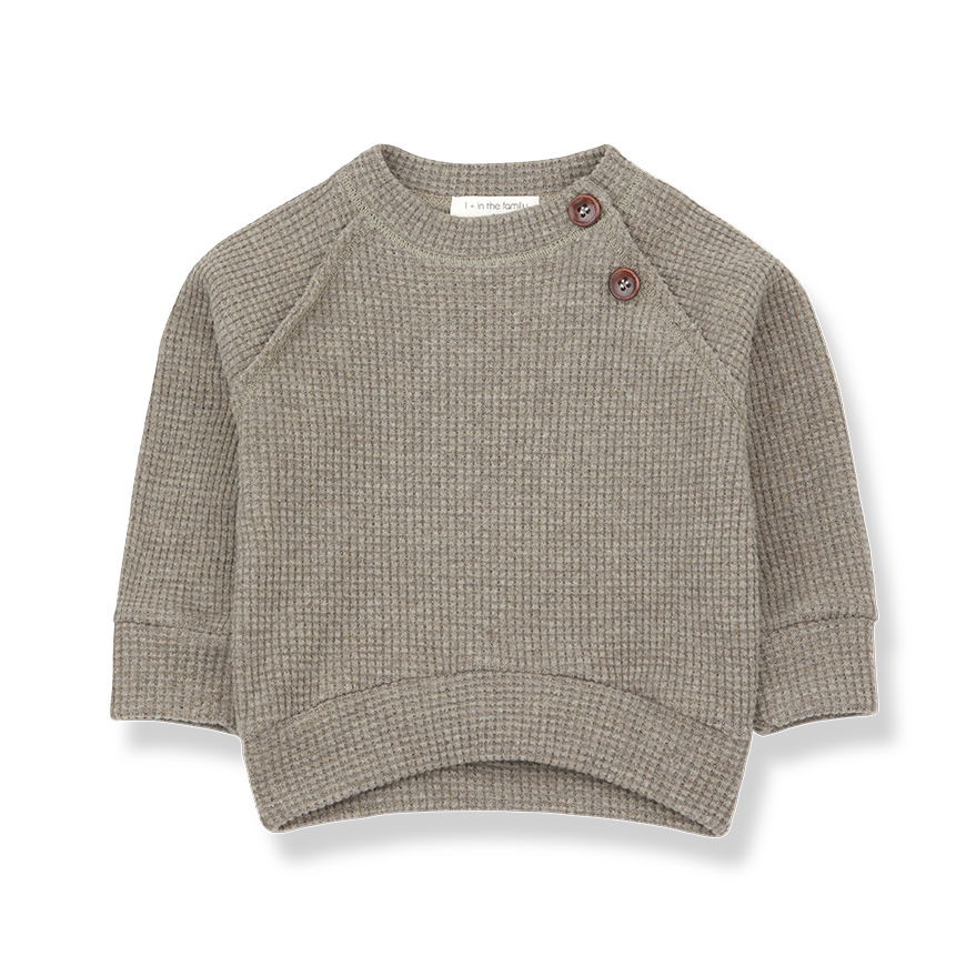 1+ in the family 1+ in the family - Livigno sweatshirt beige