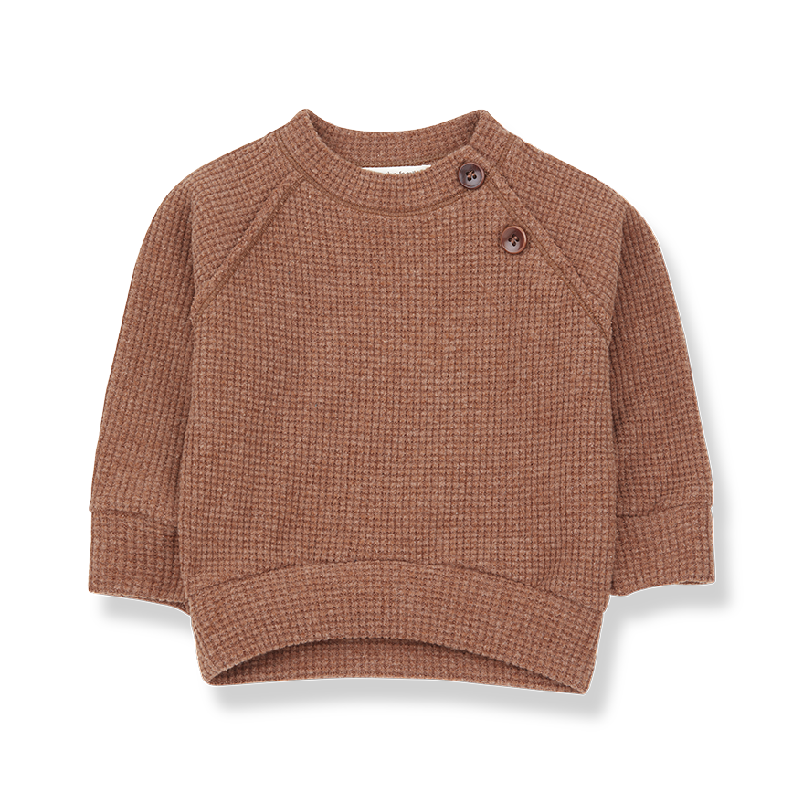 1+ in the family 1+ in the family - Livigno sweatshirt toffee