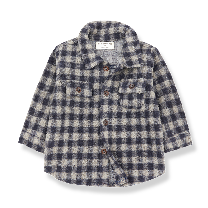 1+ in the family 1+ in the family - Pal shirt beige/blue notte