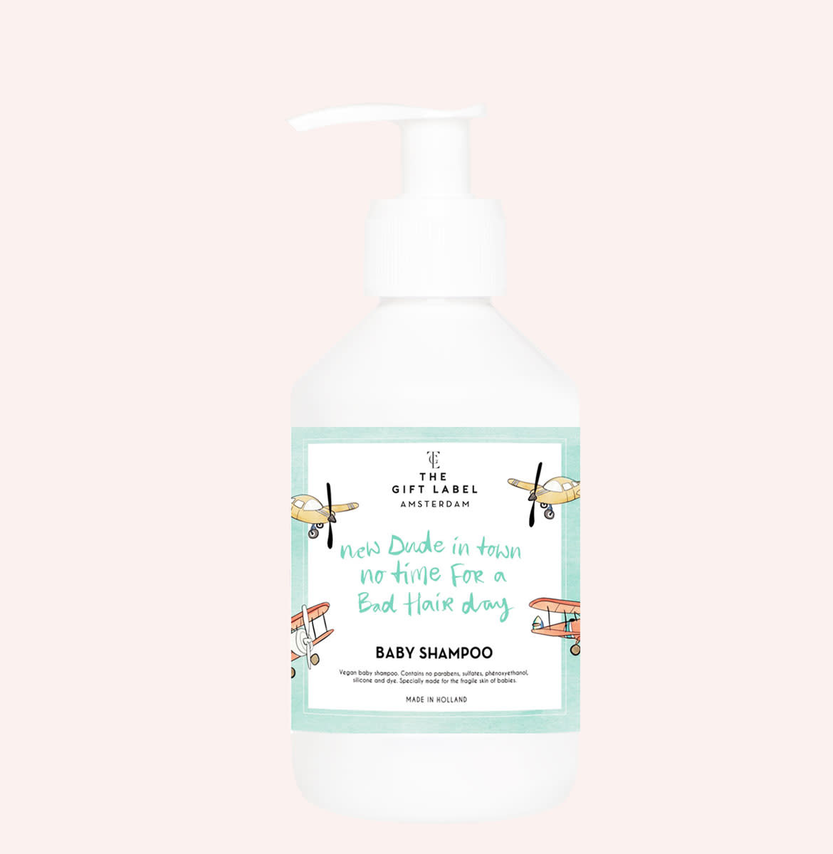 The gift label The Gift Label -  Baby shampoo 250ml - New dude