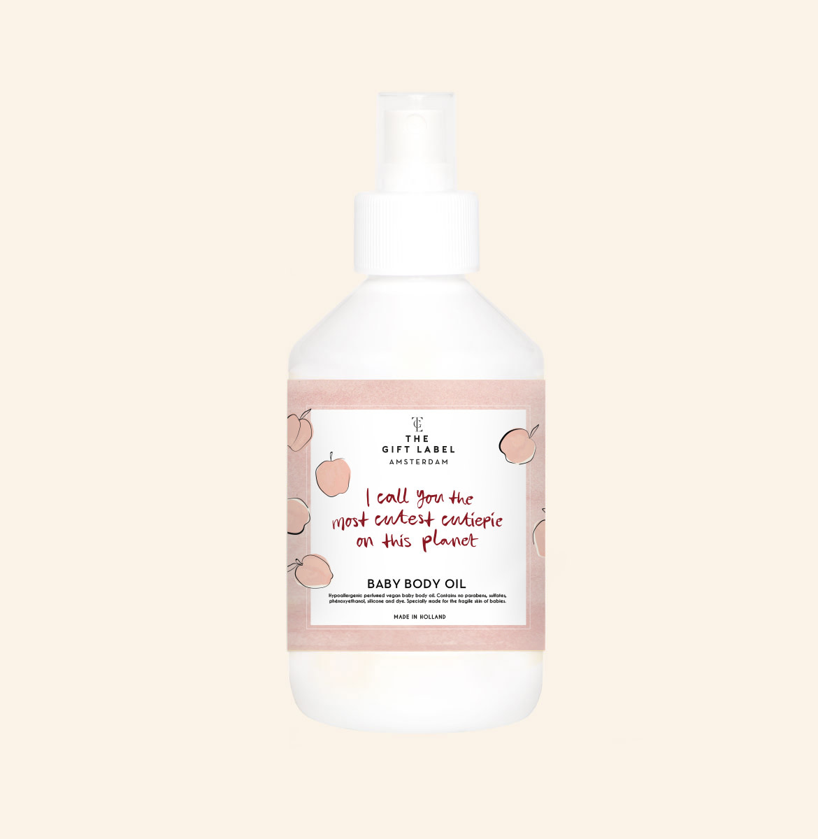 The gift label The Gift Label - Baby body oil 250ml - I call you