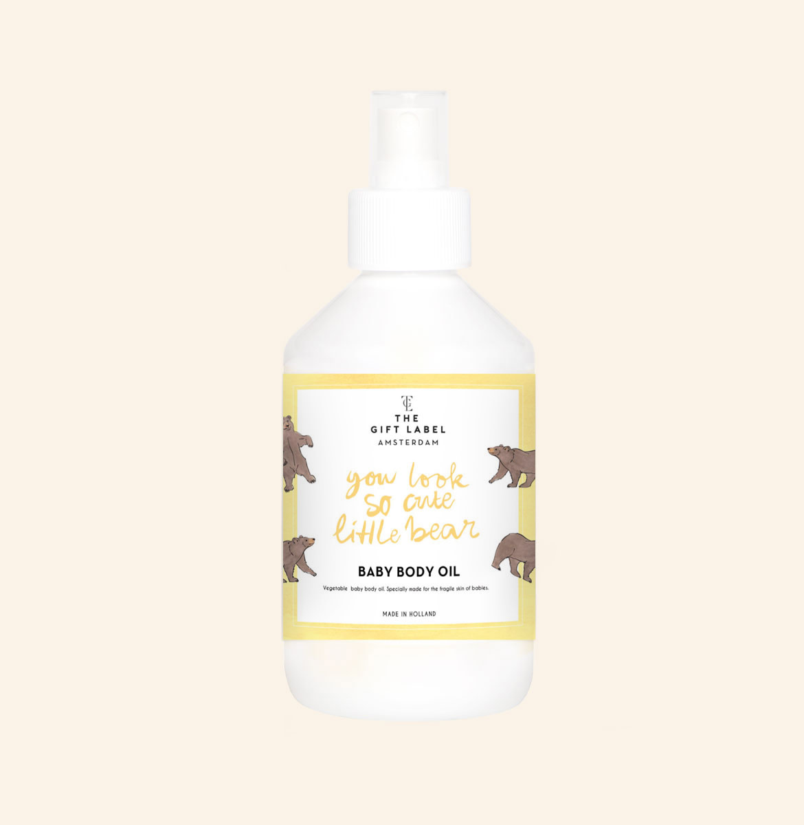 The gift label The Gift Label - Baby body oil 250ml - You look so cute