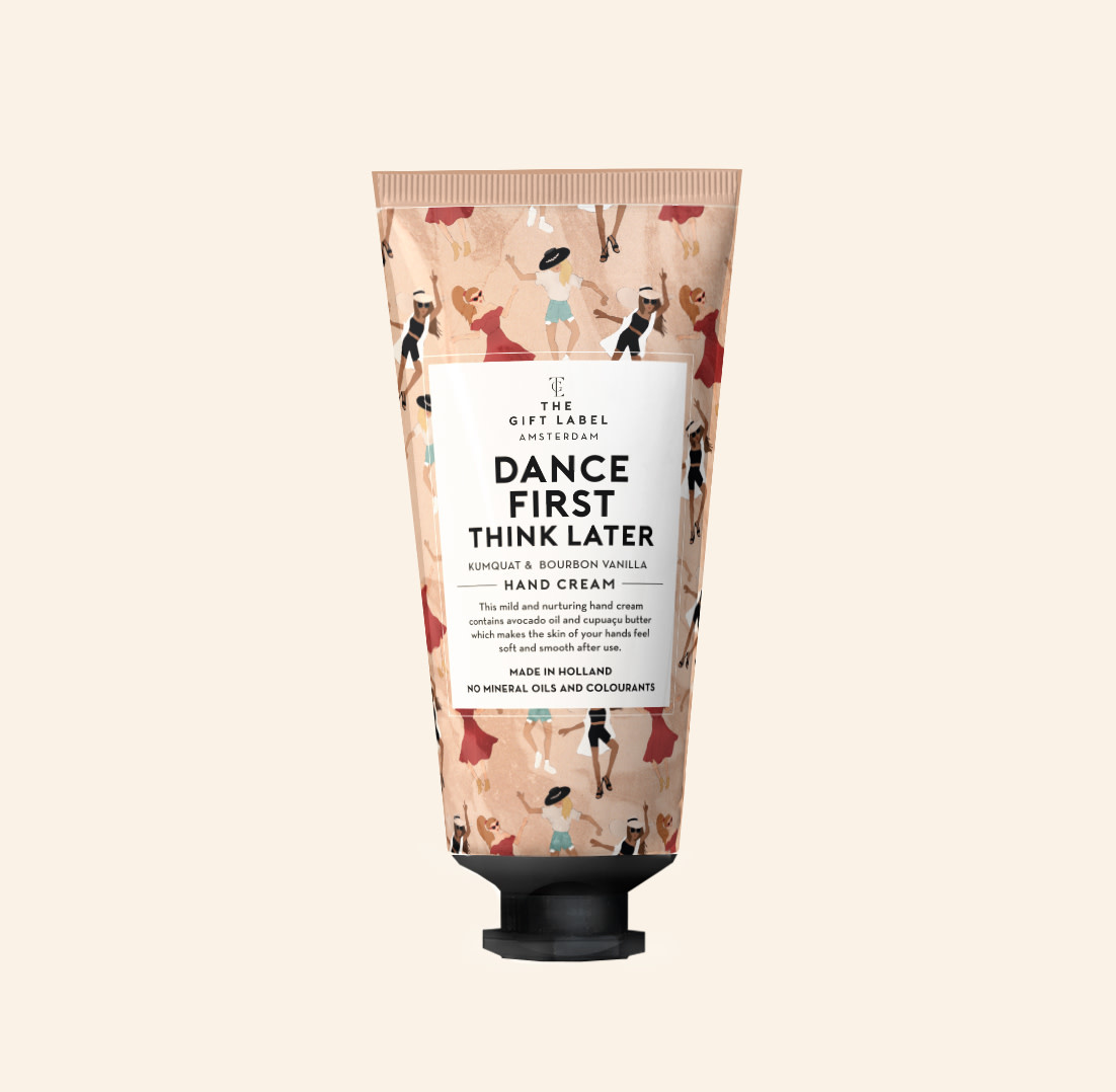 The gift label The Gift Label - Hand creme tube - Dance first think later