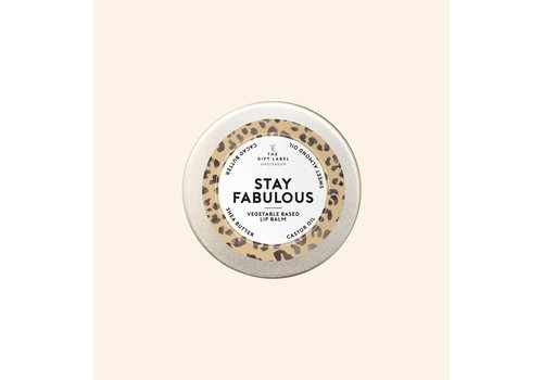 The gift label The Gift Label - Lip balm - Stay fabulous
