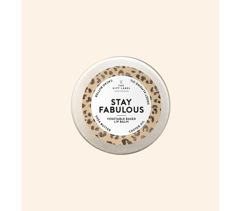 The Gift Label - Lip balm - Stay fabulous