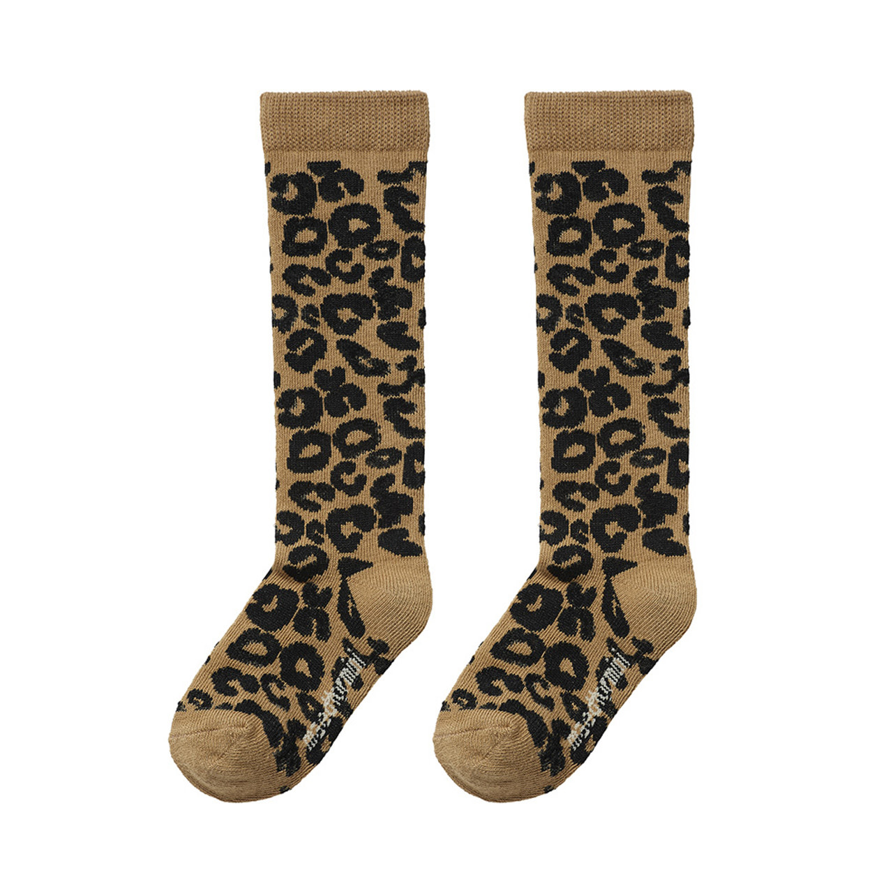 Maed For mini Maed for mini - Knee socks Brown leopard aop