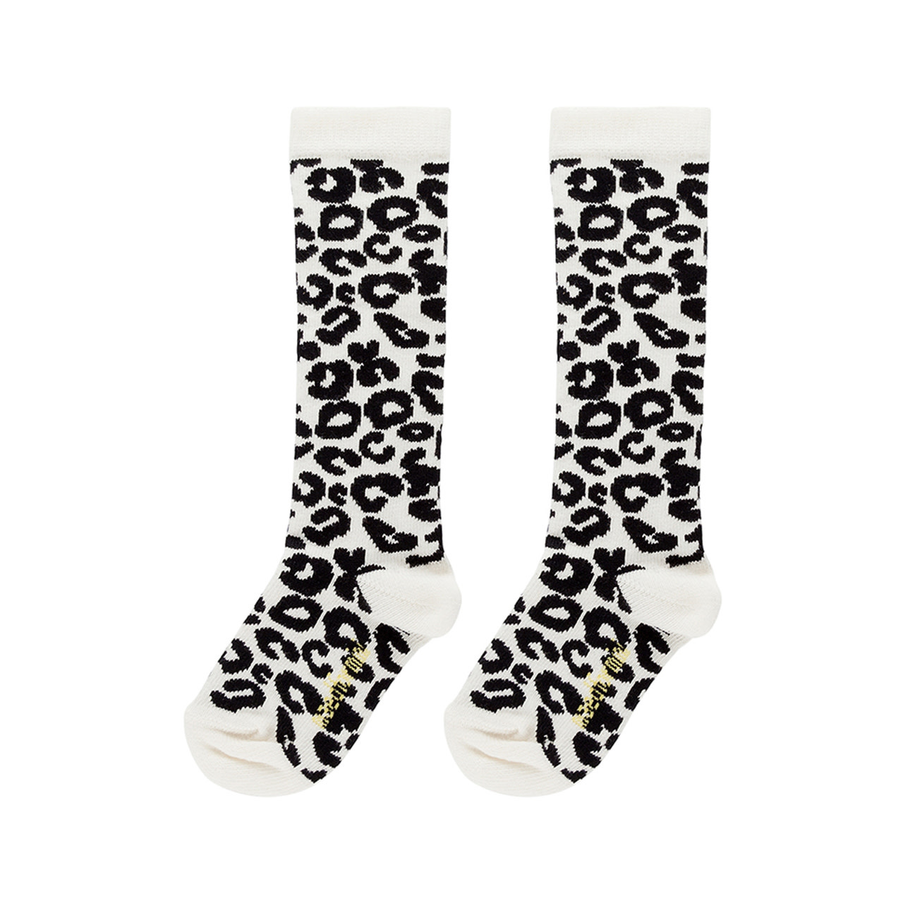 Maed For mini Maed for mini - Knee socks white leopard aop