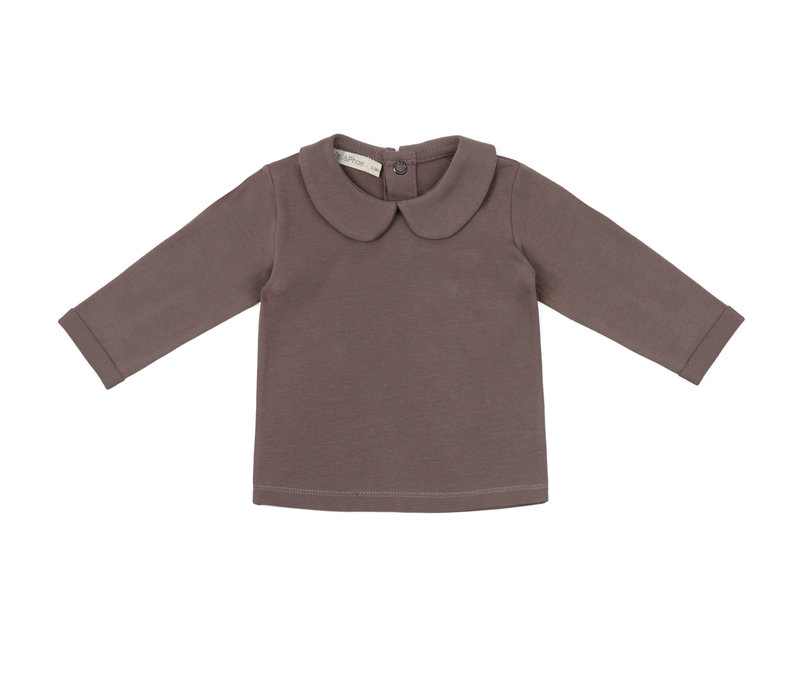 Phil&phae -  Baby collar t-shirt heather