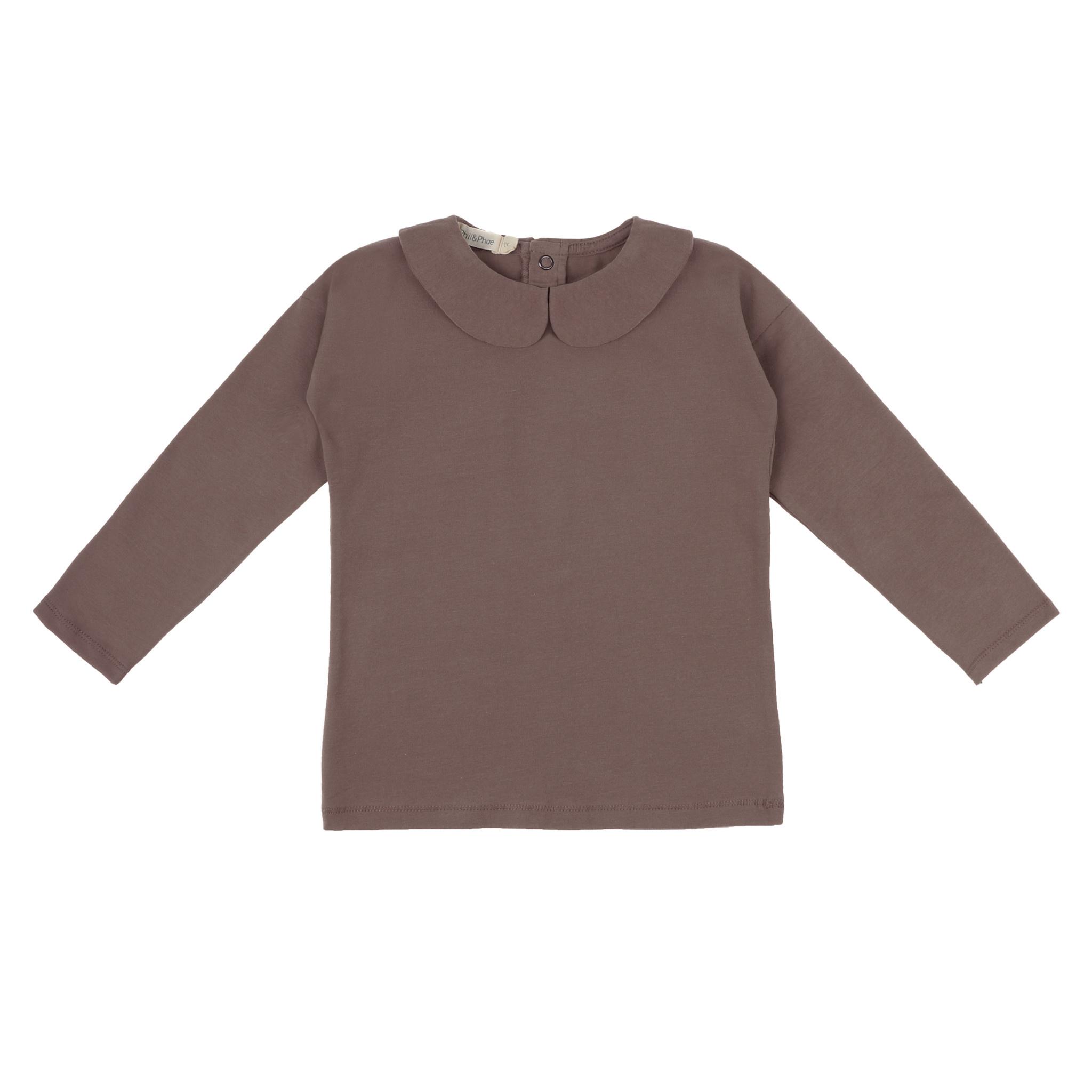 Phil&Phae Phil&phae -  Collar t-shirt heather