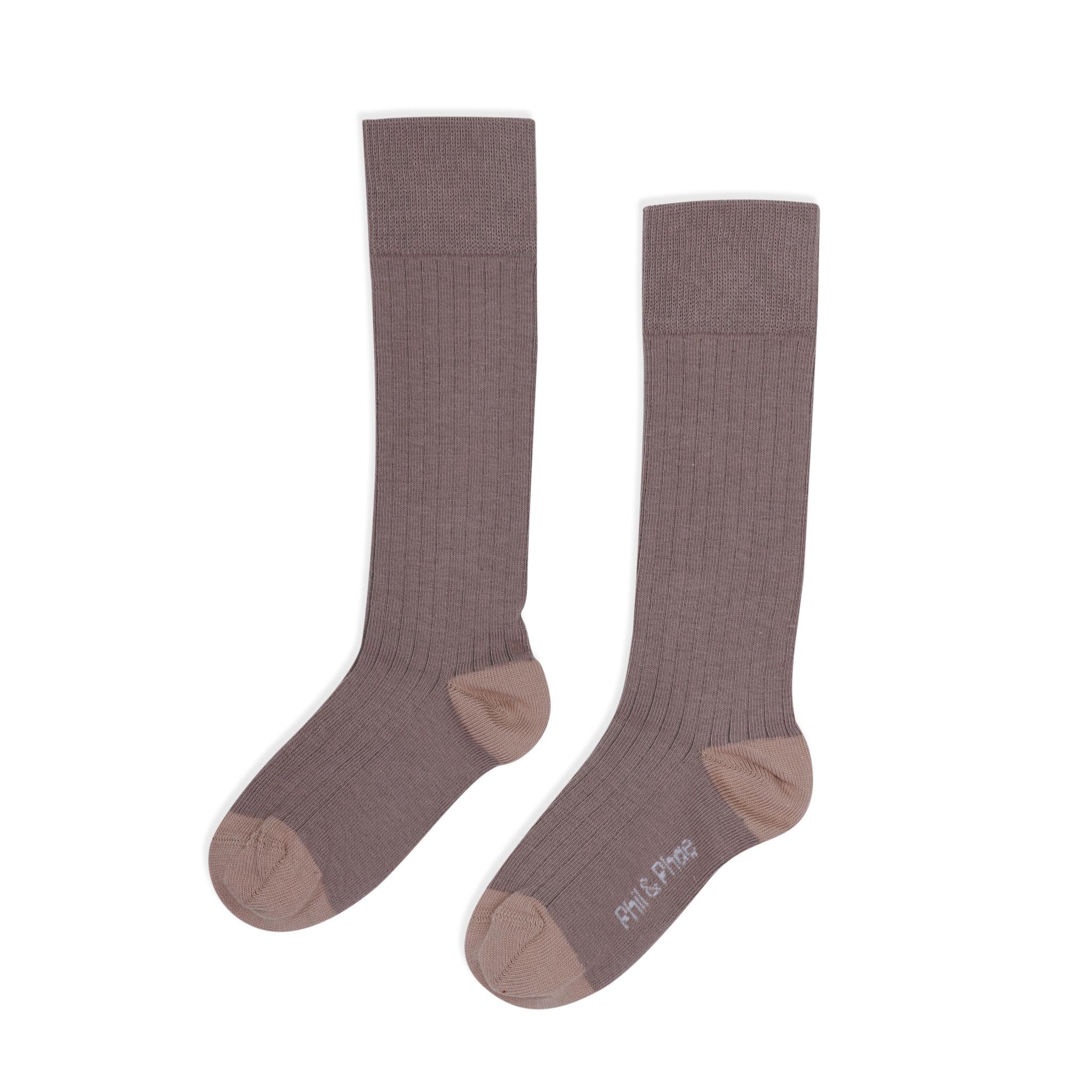 Phil&Phae Phil&phae - Ribbed knee socks heather