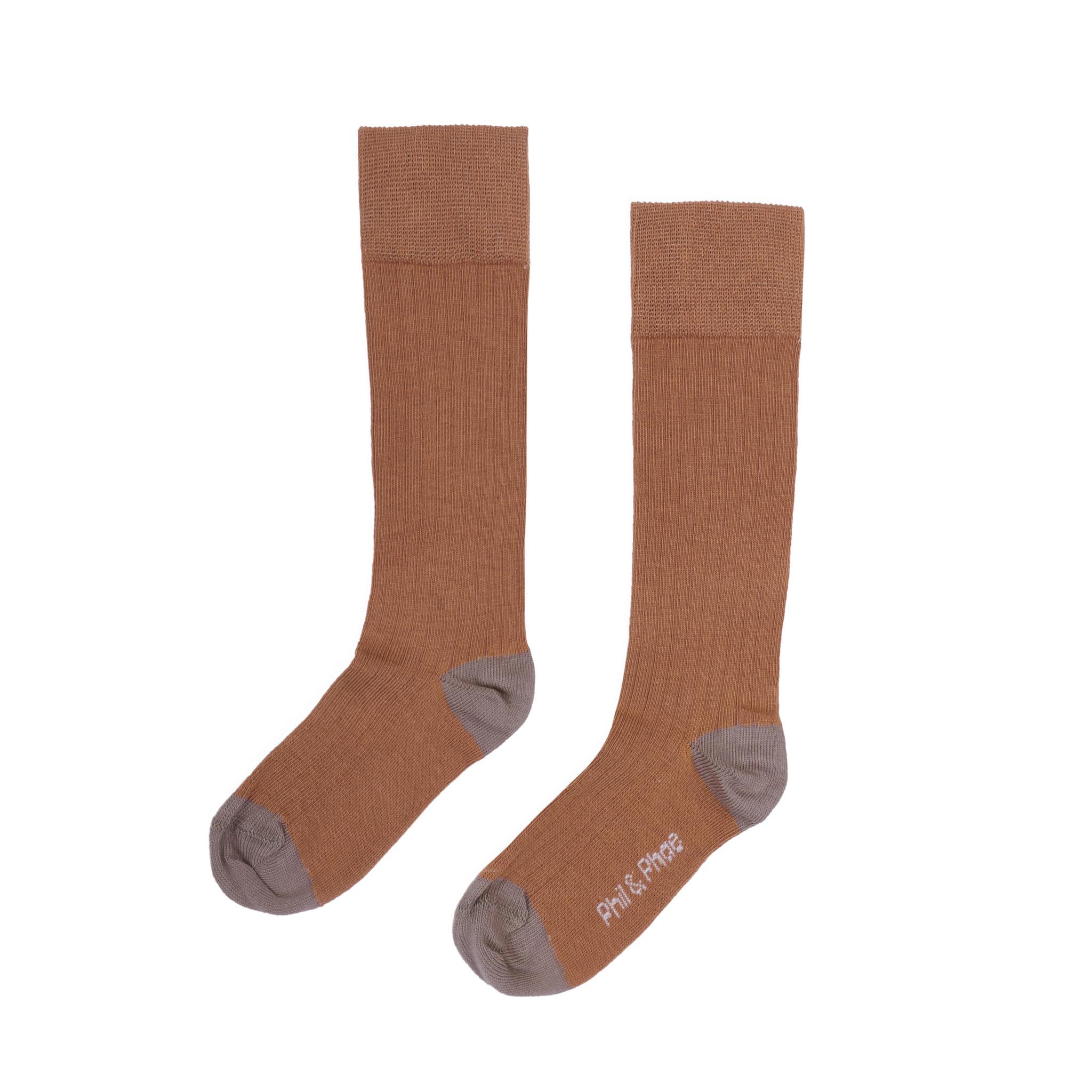 Phil&Phae Phil&phae - Ribbed knee socks hazel