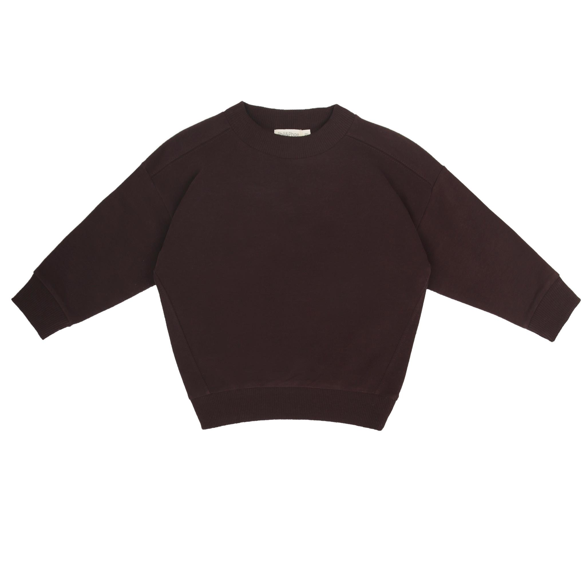 Phil&Phae Phil&phae - Oversized sweater cacao nib