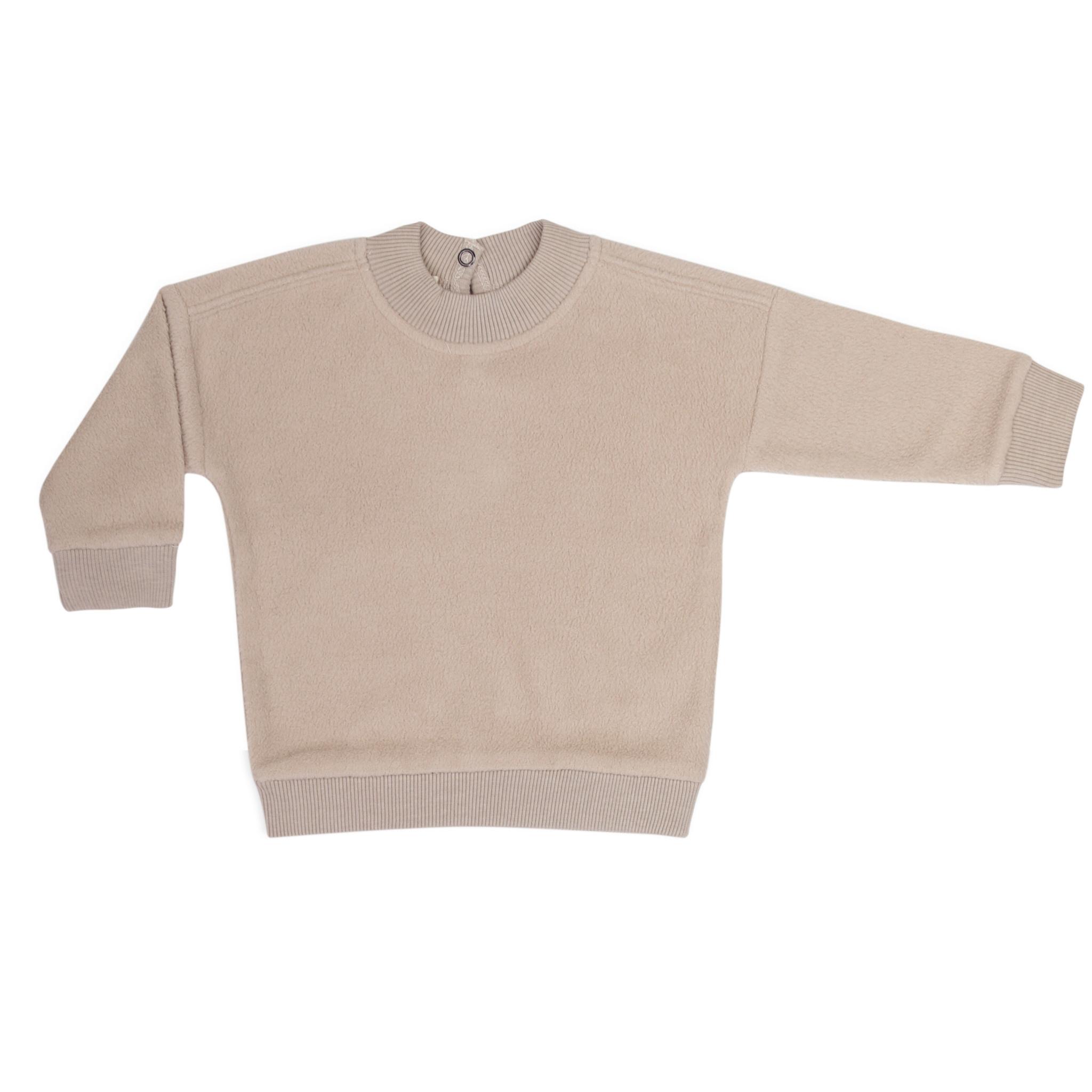 Phil&Phae Phil&phae - Oversized teddy sweater straw