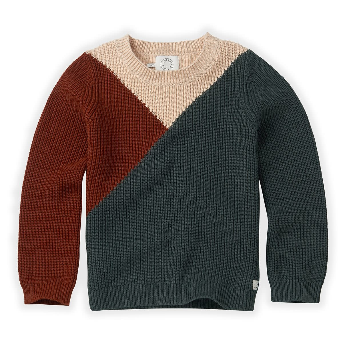 Sproet & Sprout Sproet&Sprout - Sweater colourblock dusty green