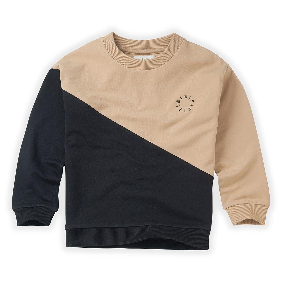 Sproet & Sprout Sproet&Sprout - Sweatshirt colourblock black/nougat