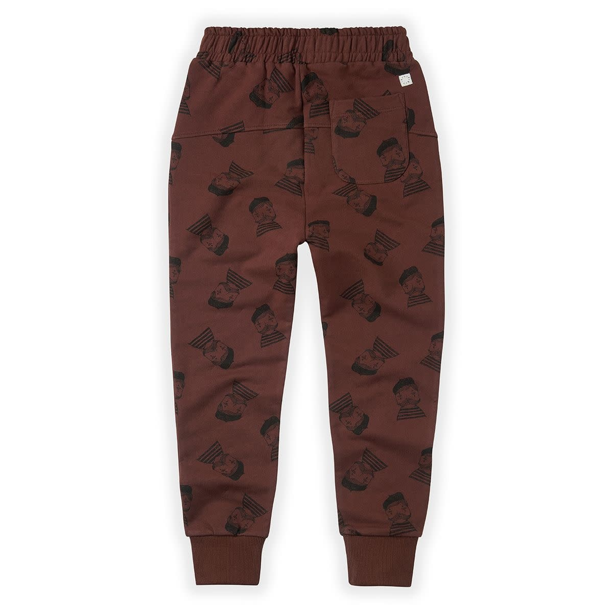 Sproet & Sprout Sproet&Sprout - Sweatpants pierrot aop chocolate