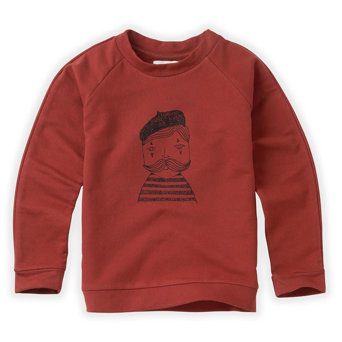 Sproet & Sprout Sproet&Sprout - Sweatshirt raglan pierrot  beet marroon