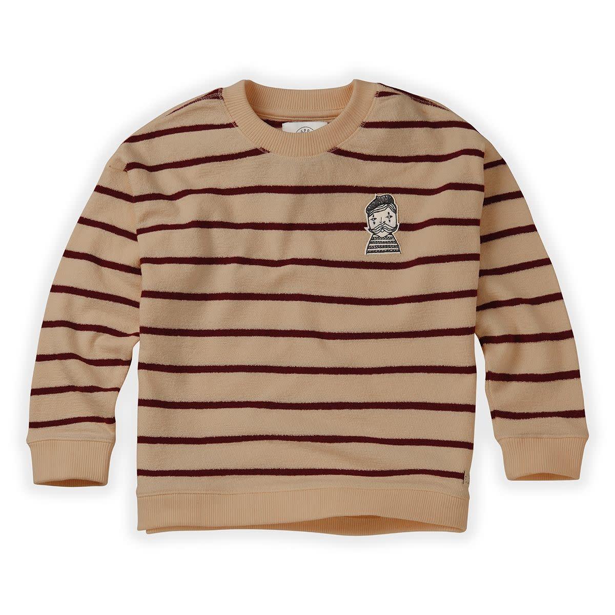 Sproet & Sprout Sproet&Sprout - Sweatshirt loose stripe nougat