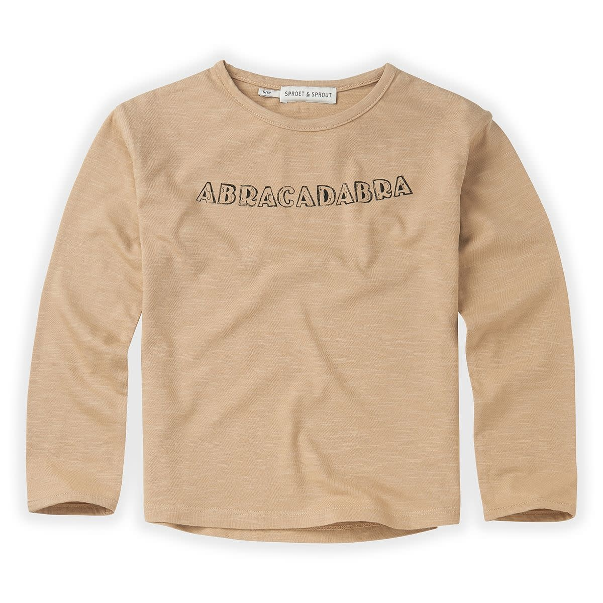 Sproet & Sprout Sproet&Sprout - T-shirt abracadabra text nougat