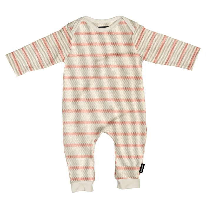 Snurk Snurk - Breton pink jumpsuit babies
