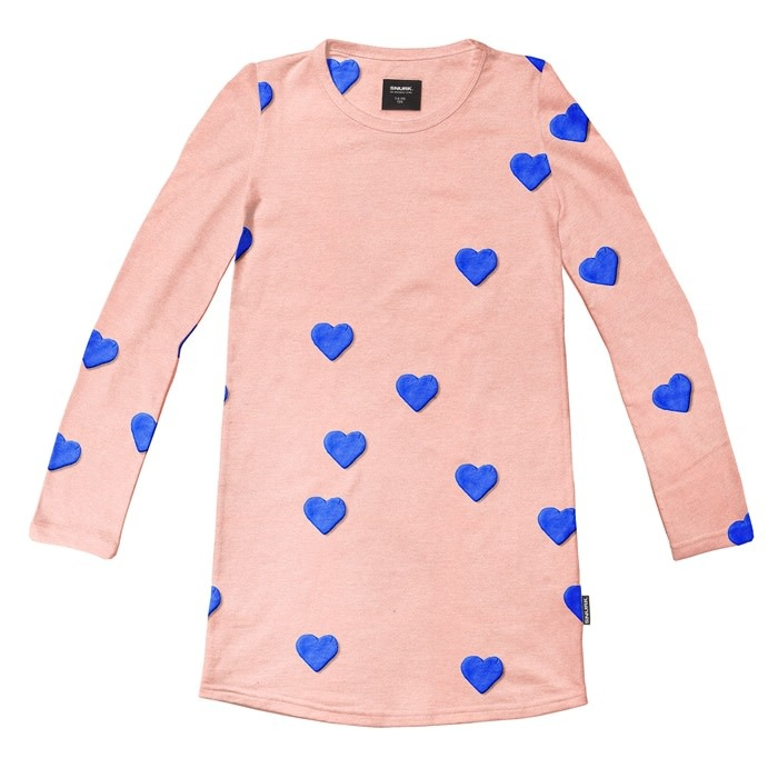 Snurk Snurk - Clay heart long sleeve dress