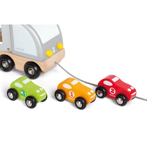 janod Janod - Vrachtwagen met drie autos