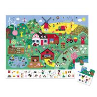 Janod - Kartonnen Zoekpuzzel De boerderij