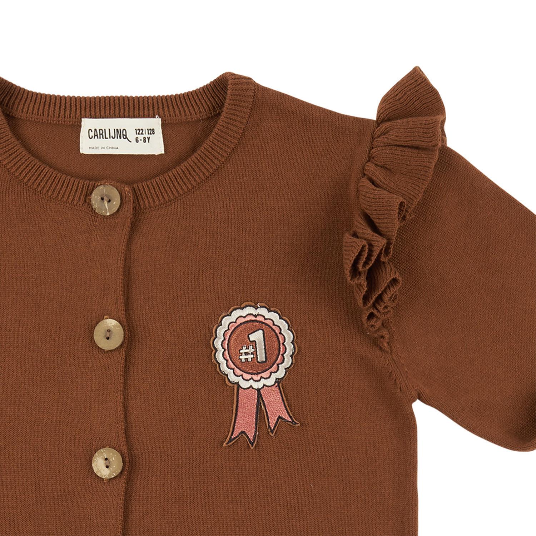Carlijn Q CarlijnQ - Cardigan wings + embroidery (knit) Rosette