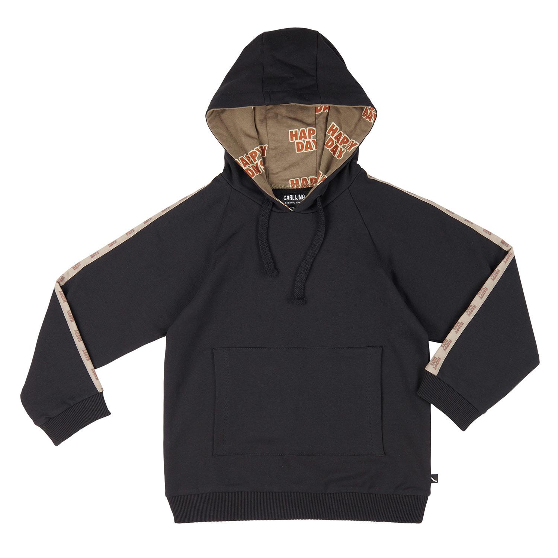 Carlijn Q CarlijnQ - Hoodie sweater with tape happy days