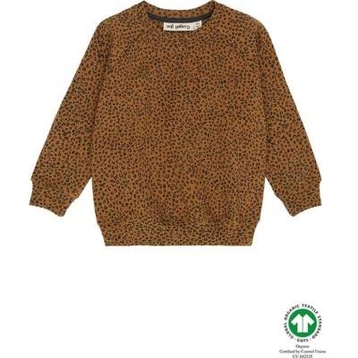 Soft Gallery Soft gallery - Chaz sweatshirt golden brown leospot aop