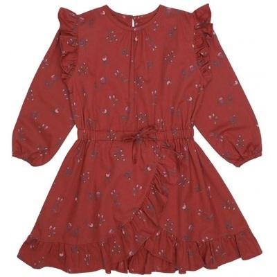 Soft Gallery Soft gallery - Ea dress red ochre aop cloudberry