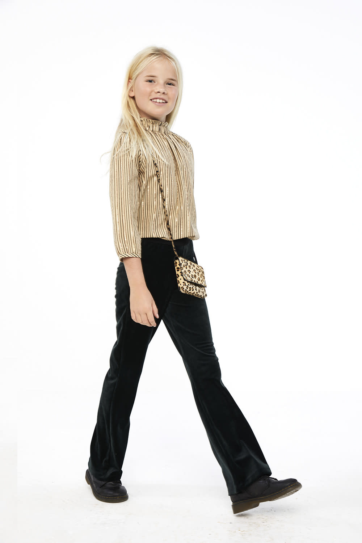 By-Bar By-bar - Celine sparkle stripe blouse stone sand