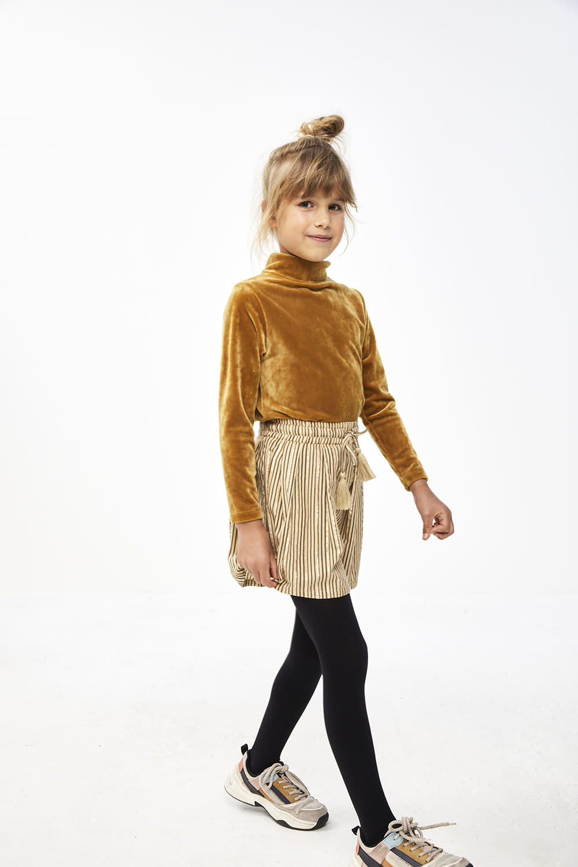 By-Bar By-bar - Palino sparkle stripe skirt stone sand