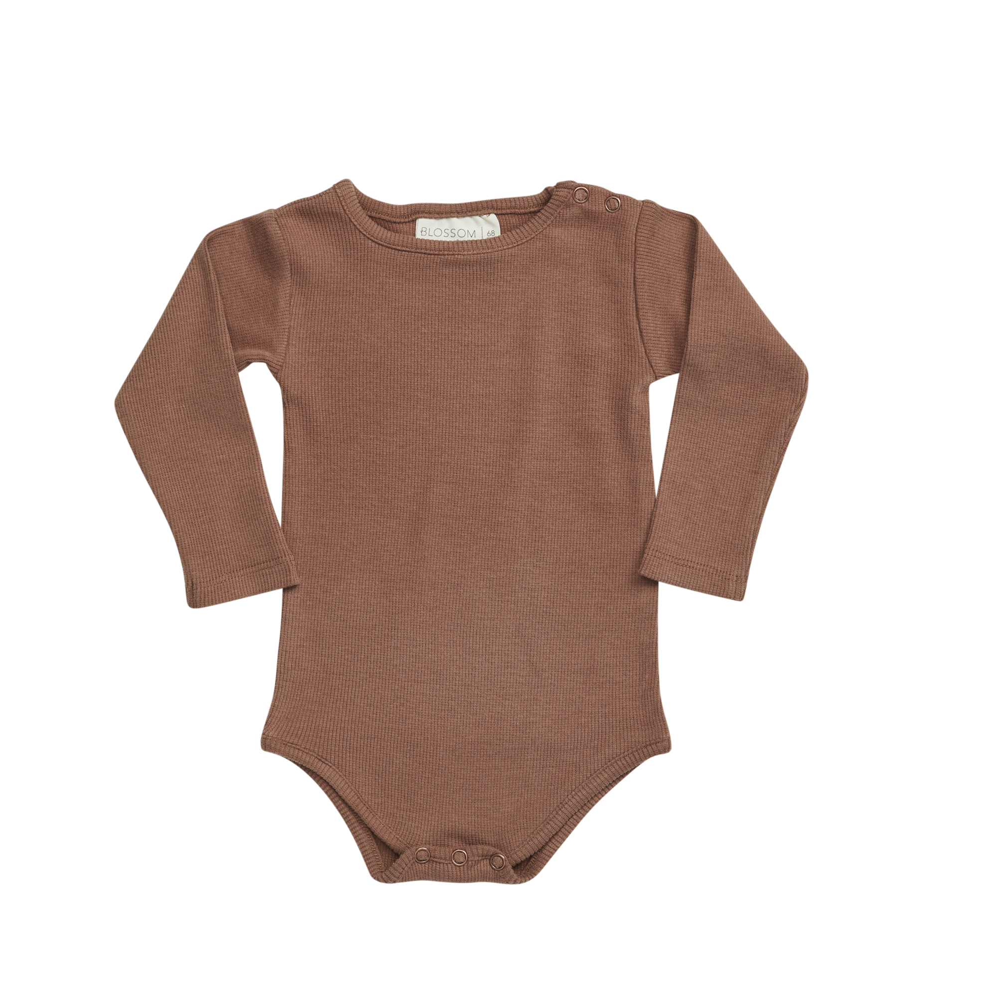 Blossom kids Blossom kids - Body long sleeve soft rib smoked hazelnut