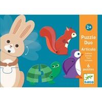 Djeco - Dieren puzzel Duo