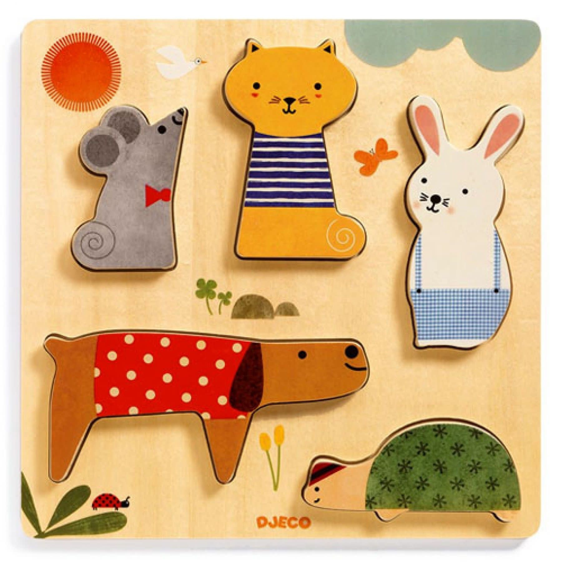 Djeco Djeco - Houten dieren puzzel