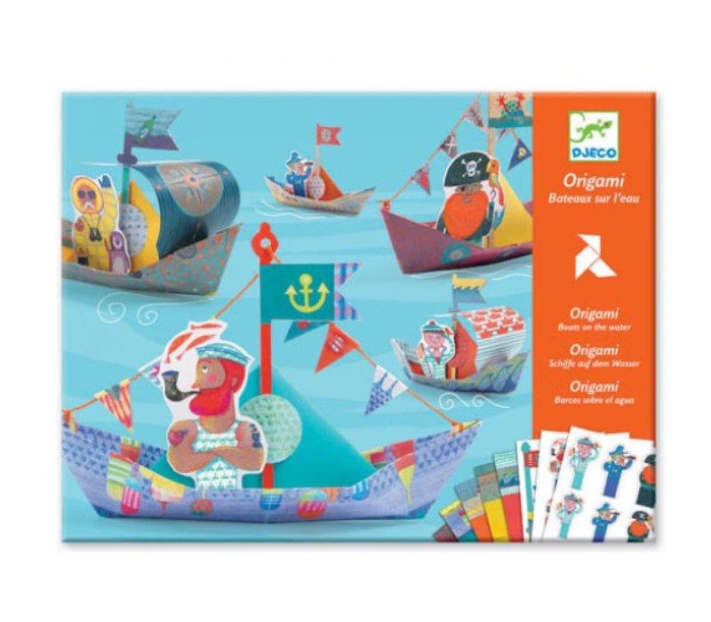 Djeco - Origami boten op het water