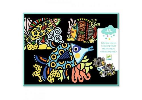 Djeco Djeco - Kleurplaat vissen