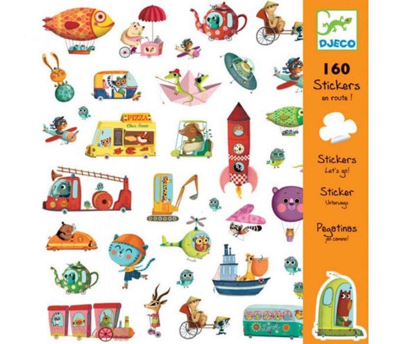 Djeco - Stickers onderweg