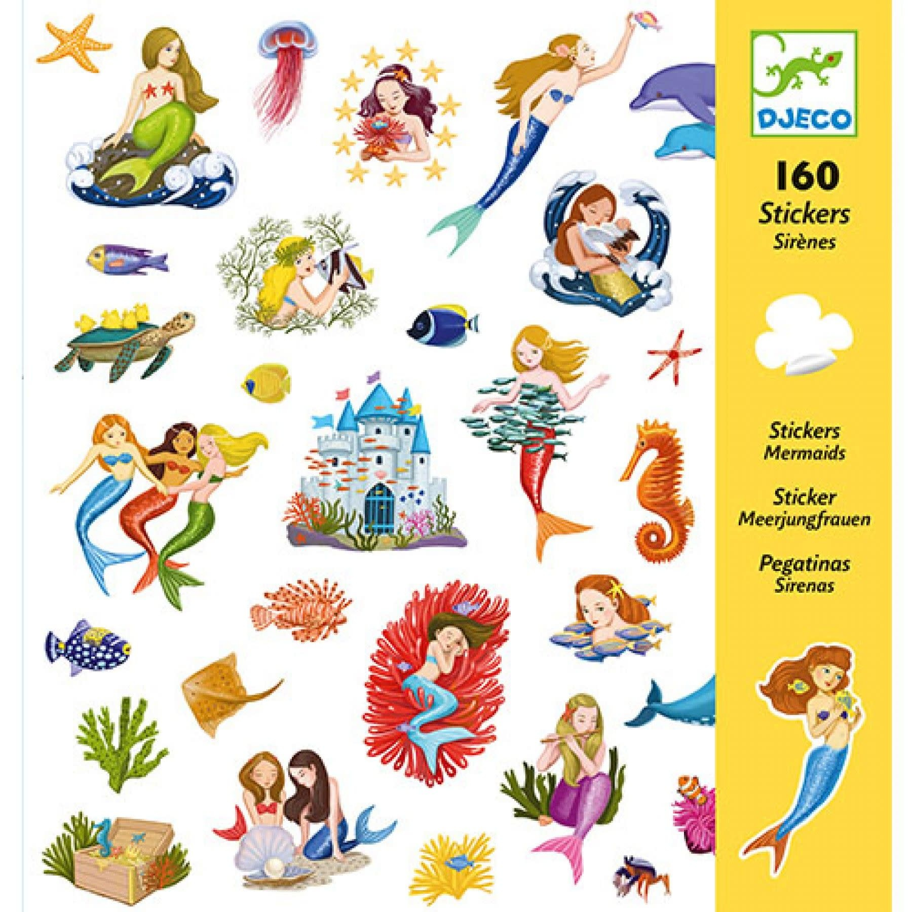 Djeco Djeco - Stickers Zeemeerminnen