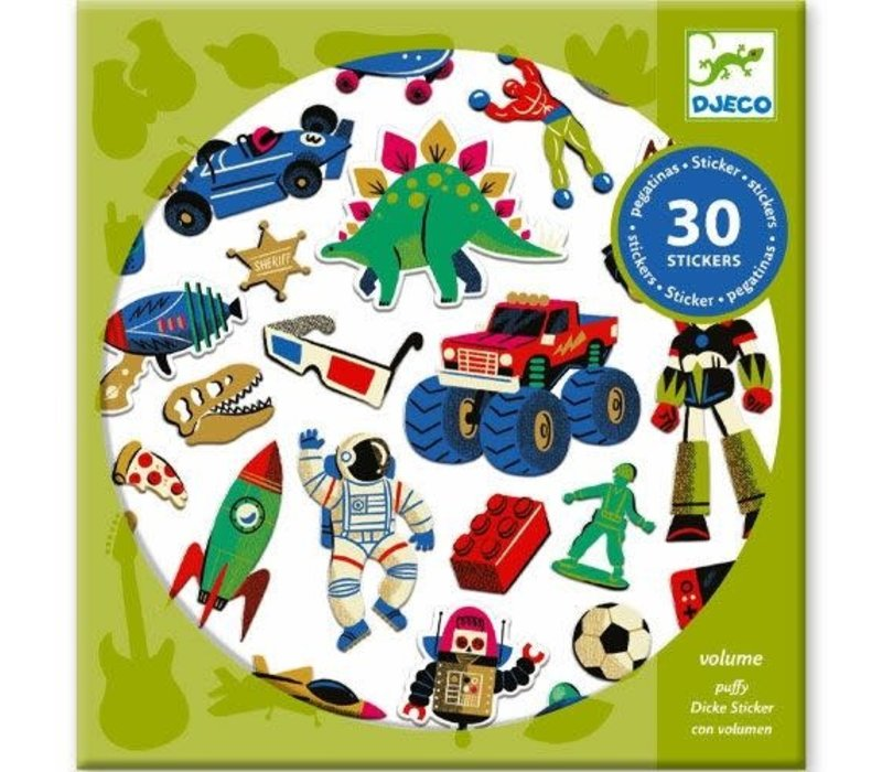 Djeco - Stickers Retro speelgoed