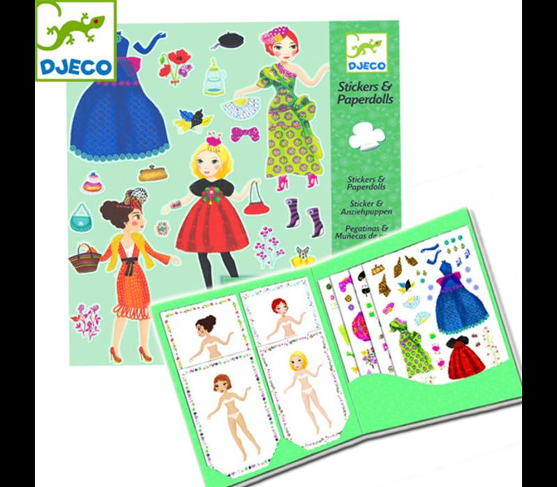Djeco - Sticker en Paperrol Fashion