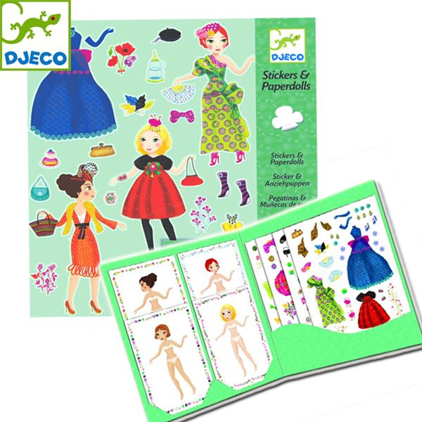 Djeco Djeco - Sticker en Paperrol Fashion