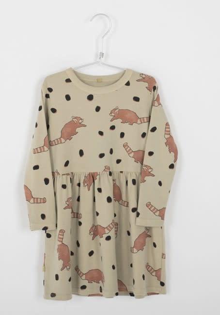 Lotiekids Lötiekids - Dress waist seam red panda dots